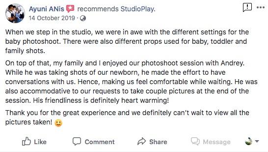 StudioPlay Facebook Reviews 11
