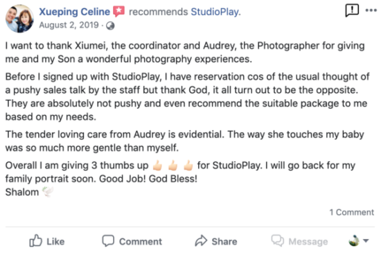 StudioPlay Facebook Reviews 19