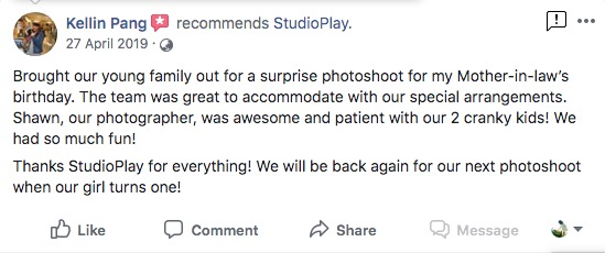 StudioPlay Facebook Reviews 27