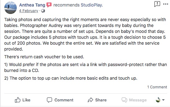 StudioPlay Facebook Reviews 3
