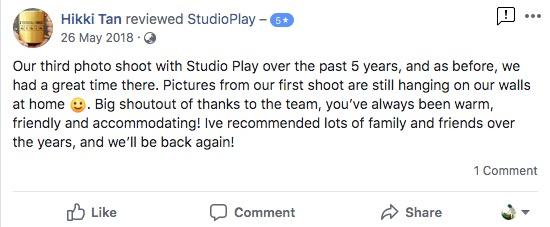 StudioPlay Facebook Reviews 51