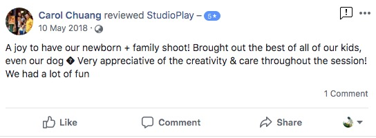 StudioPlay Facebook Reviews 54