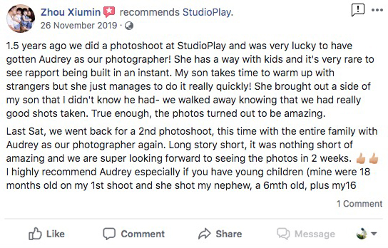 StudioPlay Facebook Reviews 6