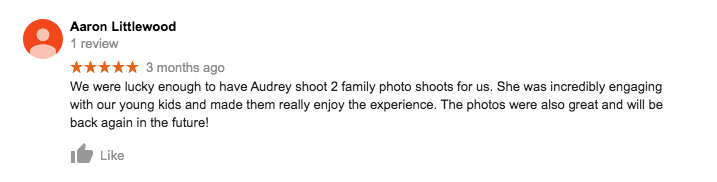 StudioPlay Google Review Aaron Littlewood