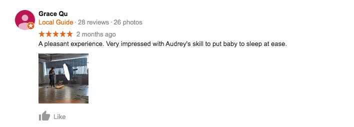 StudioPlay Google Review Grace Qu