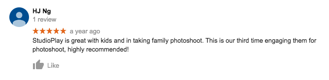 StudioPlay Google Review HJ Ng