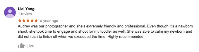 StudioPlay Google Review Lici Yang