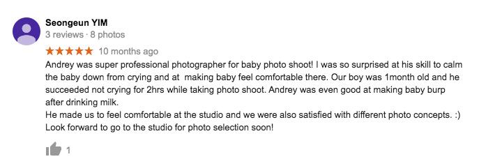 StudioPlay Google Review Seongeun Yim