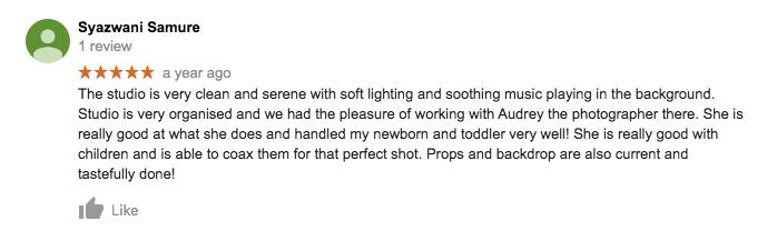 StudioPlay Google Review Syazwani Samure